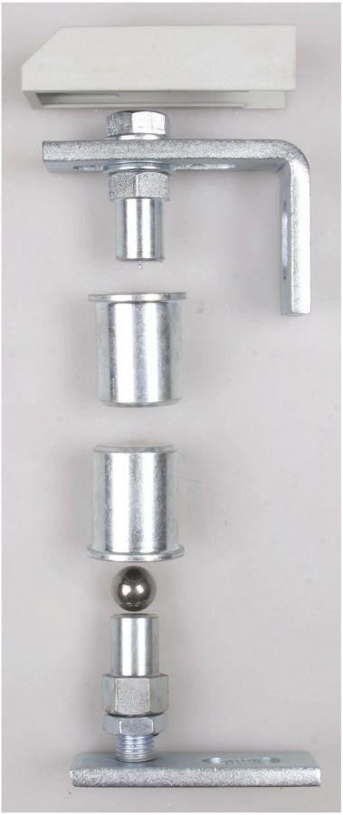 jeu de pivot bille visser pour portail en fer forg en acier ferronnerie la forge bertrand. Black Bedroom Furniture Sets. Home Design Ideas