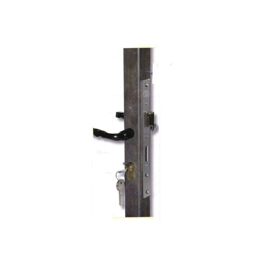 tube 40x40mm pour serrure a encastrer en acier ferronnerie la forge bertrand. Black Bedroom Furniture Sets. Home Design Ideas