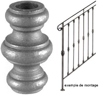 Garniture pour rampe d 39 escalier hauteur 67mm largeur 40mm - Hauteur rampe d escalier ...