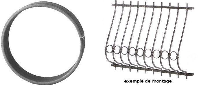 cercle diam tre 100mm en acier roul pour rampe d 39 escalier en fer forg en acier ferronnerie. Black Bedroom Furniture Sets. Home Design Ideas
