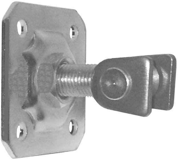 Gond r glable avec platine hauteur 60mm pour portail en - Gond pour portail ...
