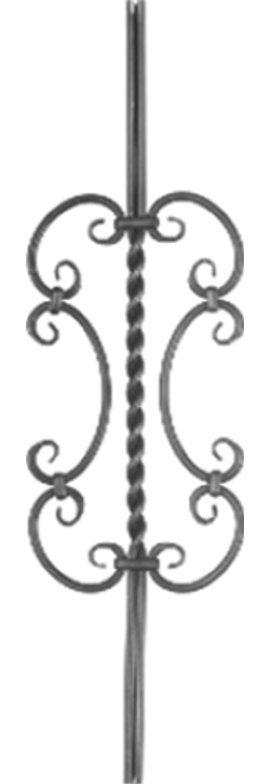 balustre en fer forg mod le diane en acier ferronnerie. Black Bedroom Furniture Sets. Home Design Ideas