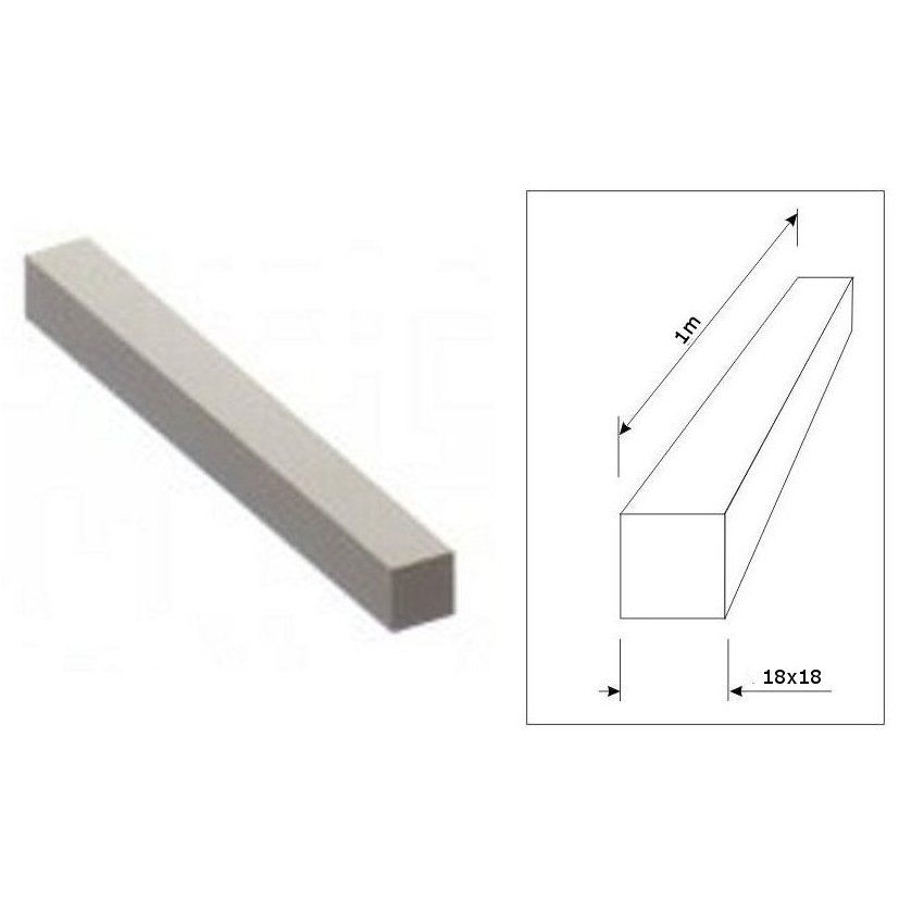barre pleine carr de 18x18mm longueur 1 m tre en acier ferronnerie la forge bertrand. Black Bedroom Furniture Sets. Home Design Ideas