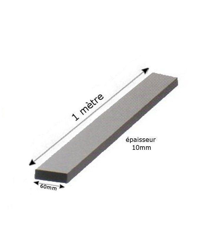 fer plat 60x10mm longueur 1 m tre en acier ferronnerie la forge bertrand. Black Bedroom Furniture Sets. Home Design Ideas