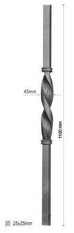poteau de d part pour escalier en fer forg en acier ferronnerie la forge bertrand