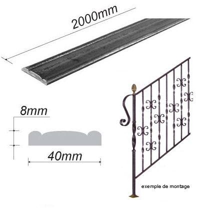 main courante pour fer forg pour escalier en acier ferronnerie la forge bertrand. Black Bedroom Furniture Sets. Home Design Ideas