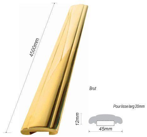 main courante laiton pour rampe d 39 escalier 45x12 et 49x15 en laiton ferronnerie la forge bertrand. Black Bedroom Furniture Sets. Home Design Ideas